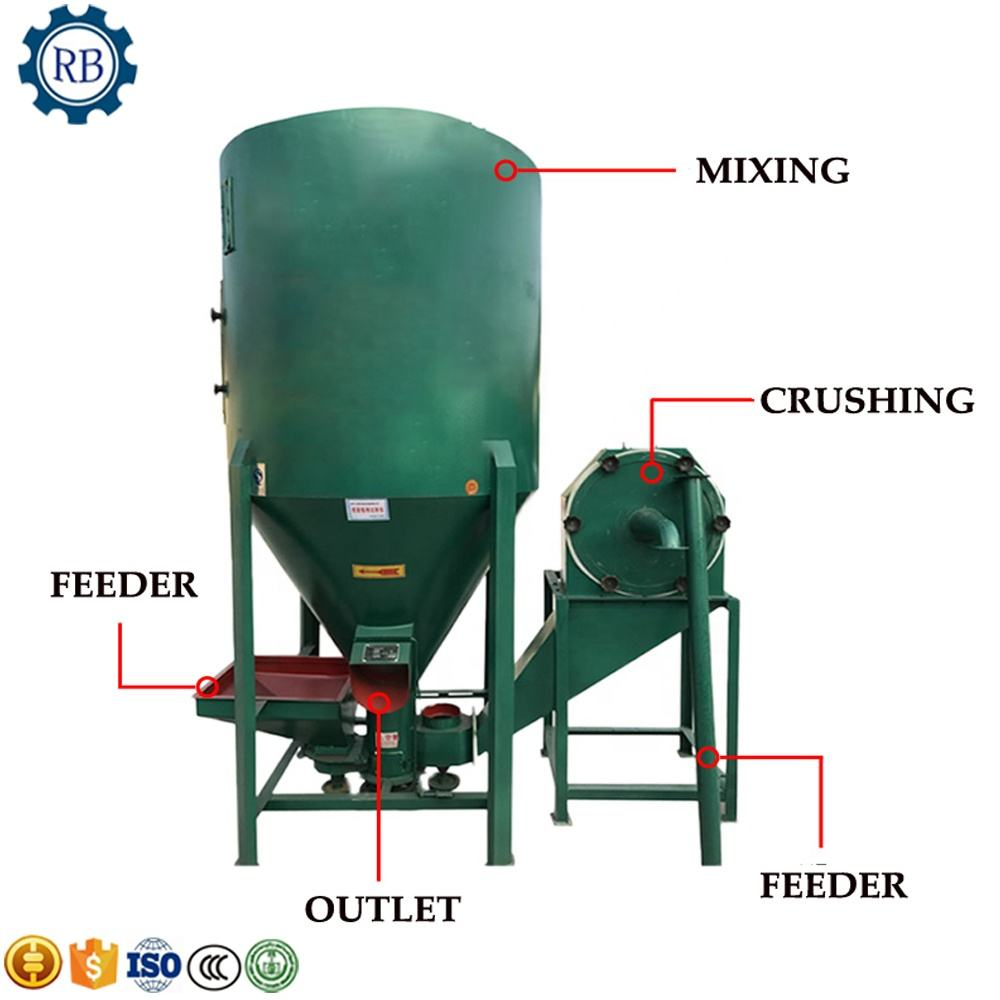 poultry food processing machine with large feeder/feed production line/animal food processing machine