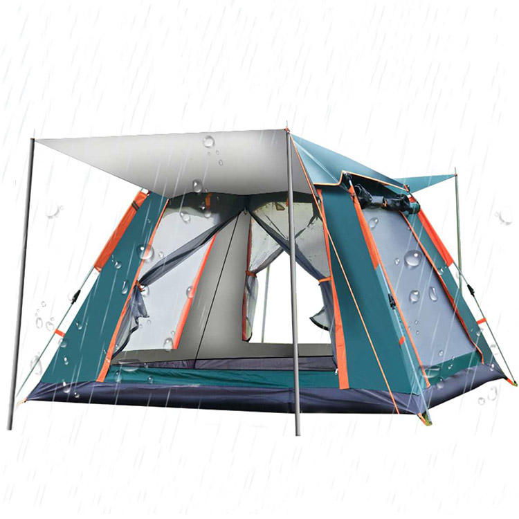 Outdoor Automatic Pop Up Camping Tent Easy Install 4 to 5 Person Family Waterproof Camping Tents