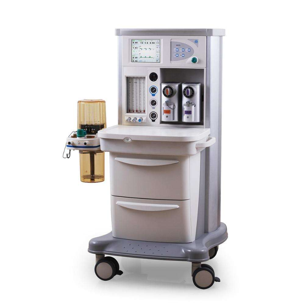 ICU Painlessl mindray anaesthesia machine work station with trolley monitoring