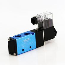 "PT1/4"" Single Electrical 4V210-08 DC 12V 5 Way 2 Position Pneumatic Air Control Solenoid Valve"