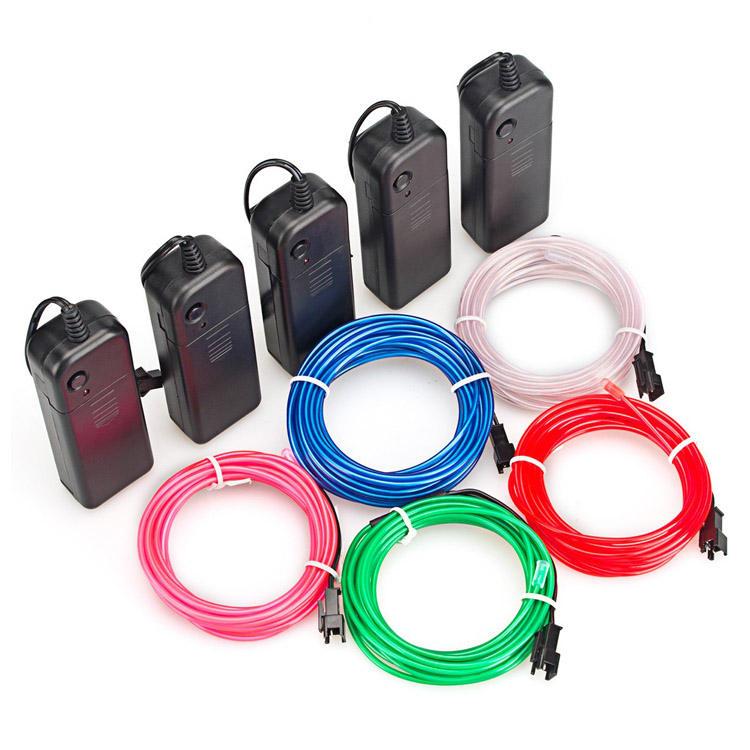 12 v usb コントローラフレックス led ネオンロープストリップテープ多色 el ワイヤー led 2.3 ミリメートルネオンサイン led