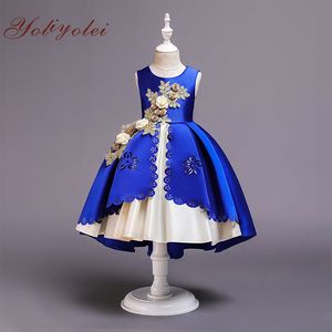 Latest children fashion kid flower girl baby dress