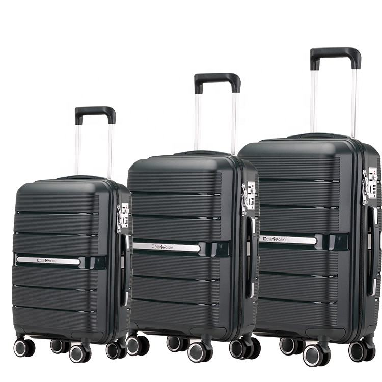 "Promotional Selected 20"" 24"" 28"" Carry On Suitcase PP Travel Trolley Hardside Luggage Set"