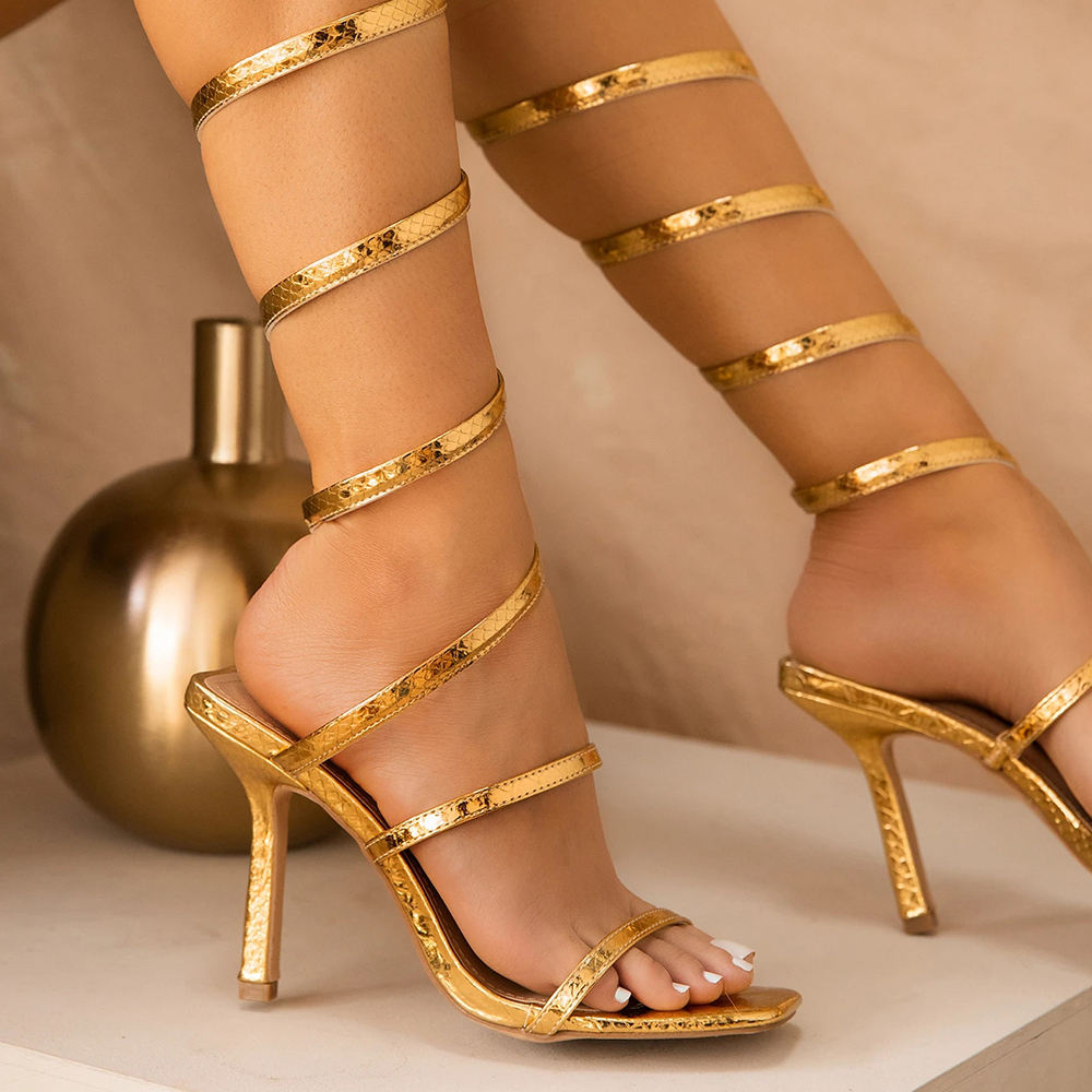 ladies dress women shoes 2020 gold sandals high heels shoes for women manufacturer