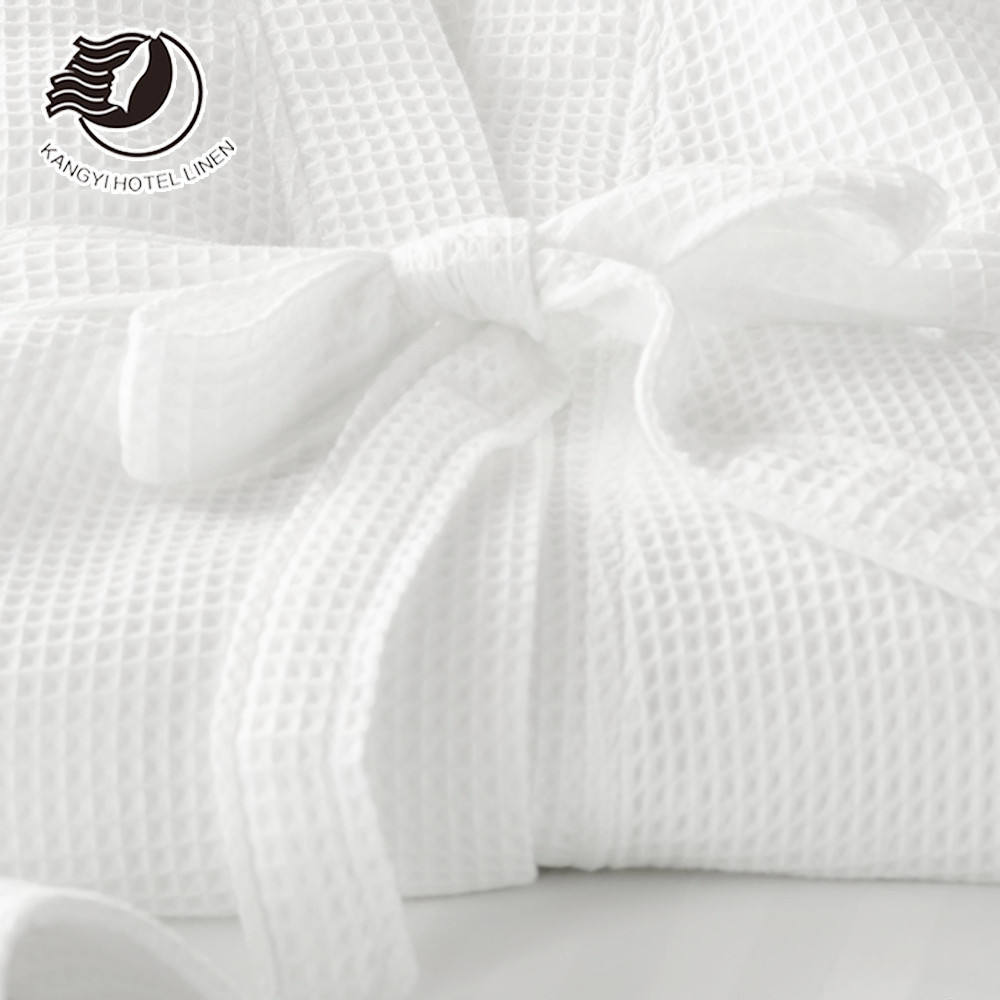 Best Quality 100% Cotton Hotel Collection Waffle Bathrobe