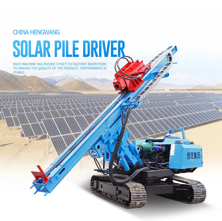 PV project piling driver machine in Philippines Solar Project