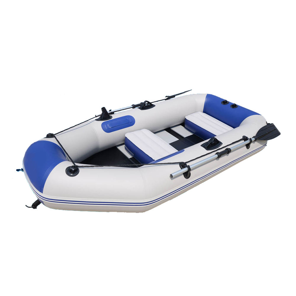 A1230 KINOCEAN 3 person inflatable water fishing island PVC raft with canopy for sale