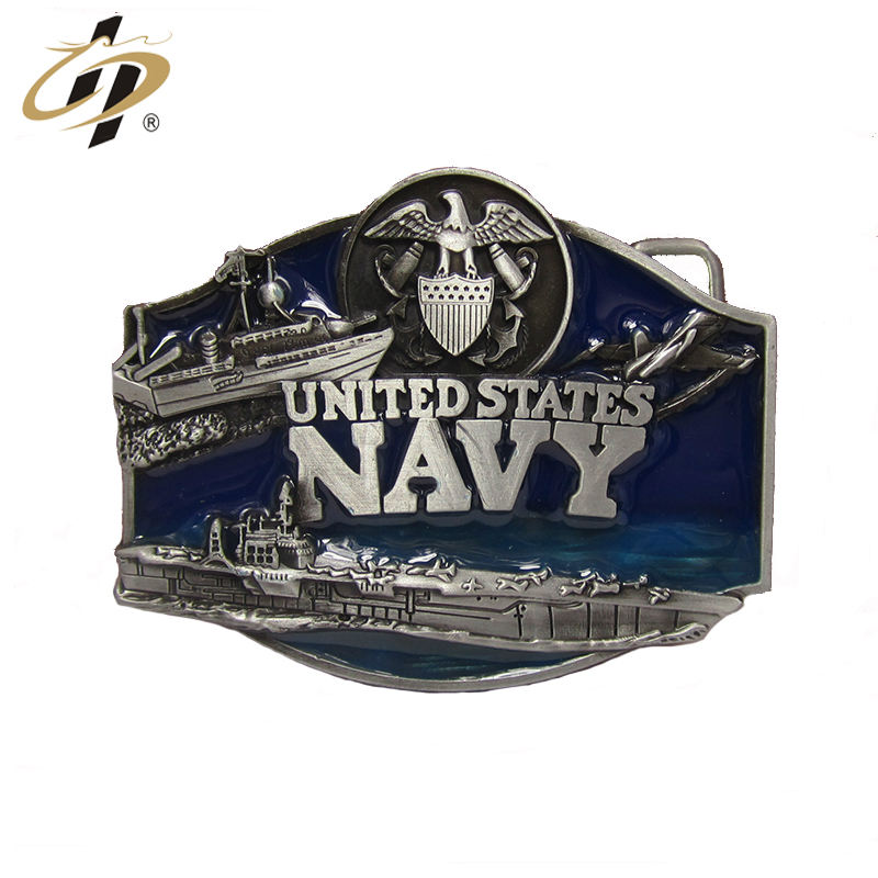 Zinc alloy material bulk cheap custom US military metal belt buckles