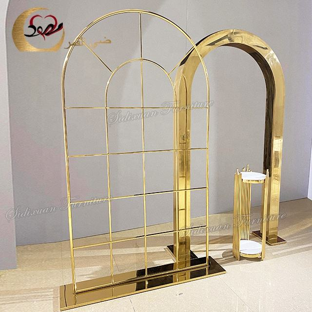 Event decoration background stand stainless steel wedding party props backdrop