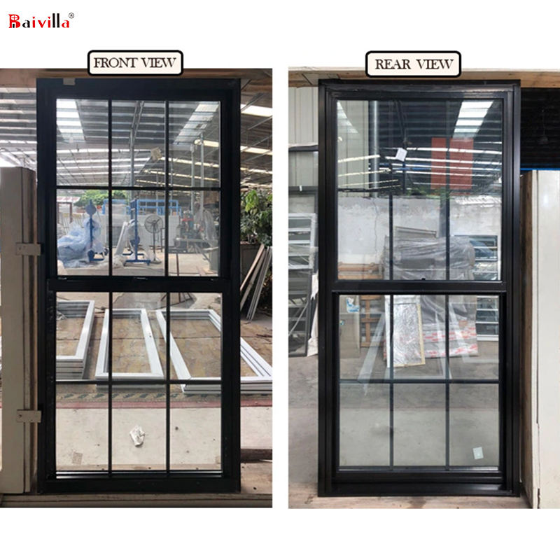 American style thermally broken aluminum window double/single hung windows