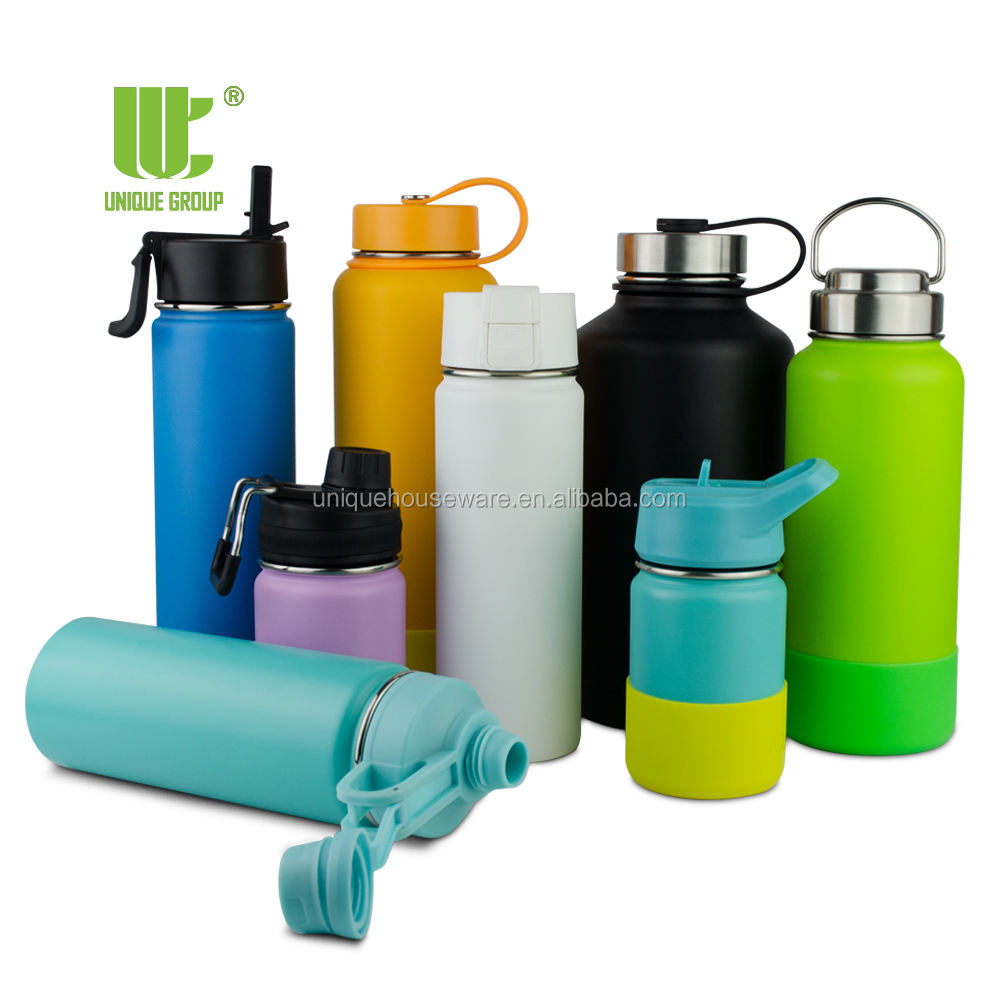 Unique Group Stainless Steel Double Wall Sports Thermos Vacuum Insulated Water Bottle