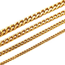 Stainless Steel Figaro 18k Gold Curb Chain Necklace