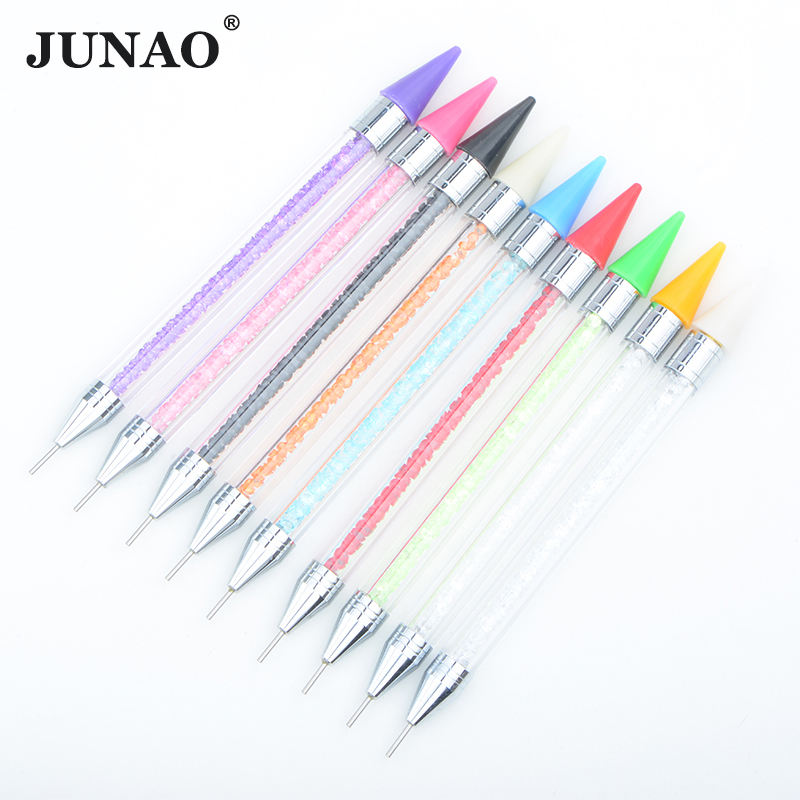 Wholesale Dual Ended Wax Dotting Tool Nail Art Dotting Pencil Wax Rhinestones Picker Pen for DIY Craft