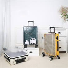 2019 Hot sale Custom Carryon Waterproof 100% PC Hard Shell suitcase Transparent luggage