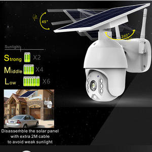 Full Hd 1080P 4G Versie Outdoor Solar Security Cctv Camera Ondersteuning 4G Sim Card-4G Versie