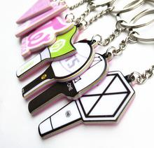 K-POP EXO /Got7/ Wanna One / BTS/ Twice / Seventeen Cartoon Acrylic PVC Keychain