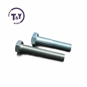 Carbon Steel Full Thread Half Thread Hexagon Bolts Grade 2/5/8 Galvanized Hex Bolts