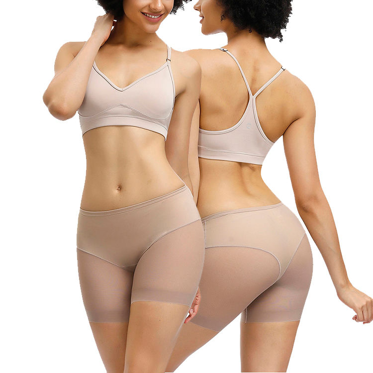Women New Solid Mesh Spice Short Panties Slimming Tight Fitness Butt Lifter Seamless Shaper