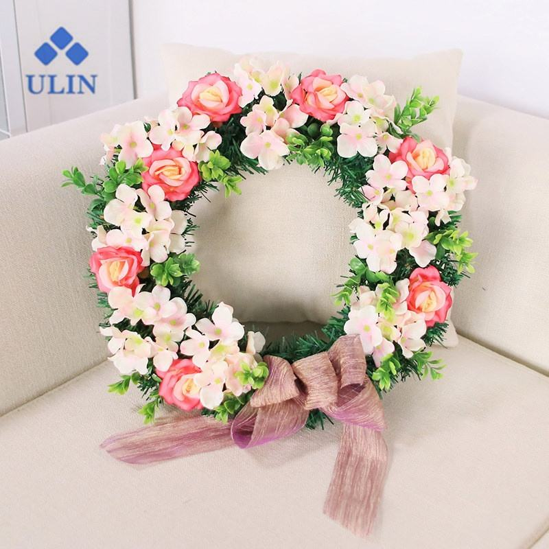 Fall Decorations wooden wreath front door wreath wreath base for Festivals Decoration