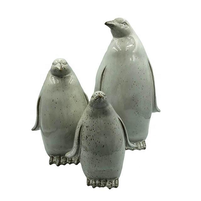Moderno nórdicos Sala cerámica decoración para el hogar con pingüino forma