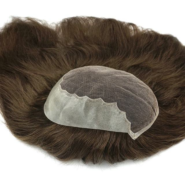 Chinese Remy Hair Wholesale Hair Topper Q6 Swiss Lace Hair Women Toupee