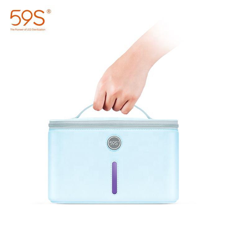 59s Uvc Sterilization Bag Uv Phone Box Household Use Portable Sterilizer Box Uv C Sterilize Bag