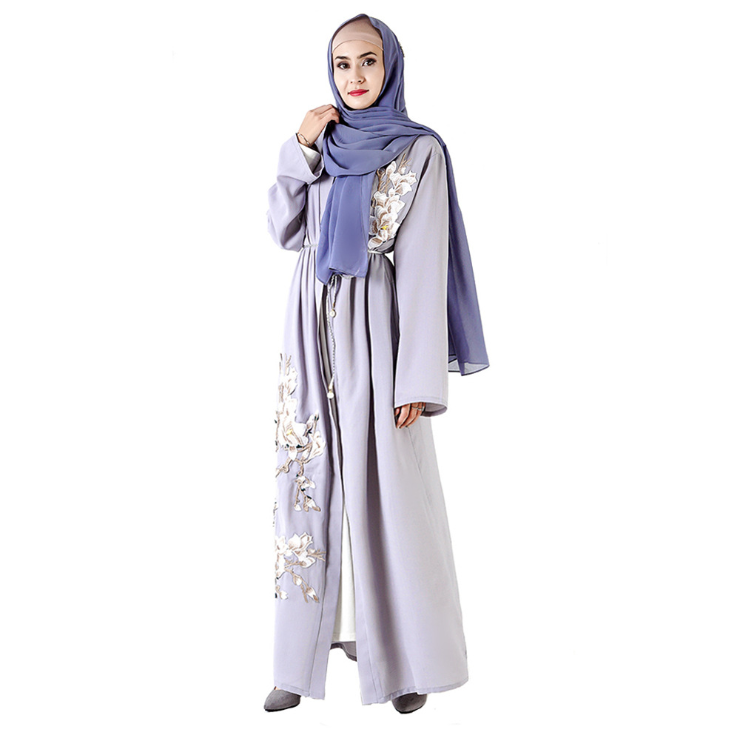Women long dress muslim abaya dubai kaftan islamic jilbab maxi robe