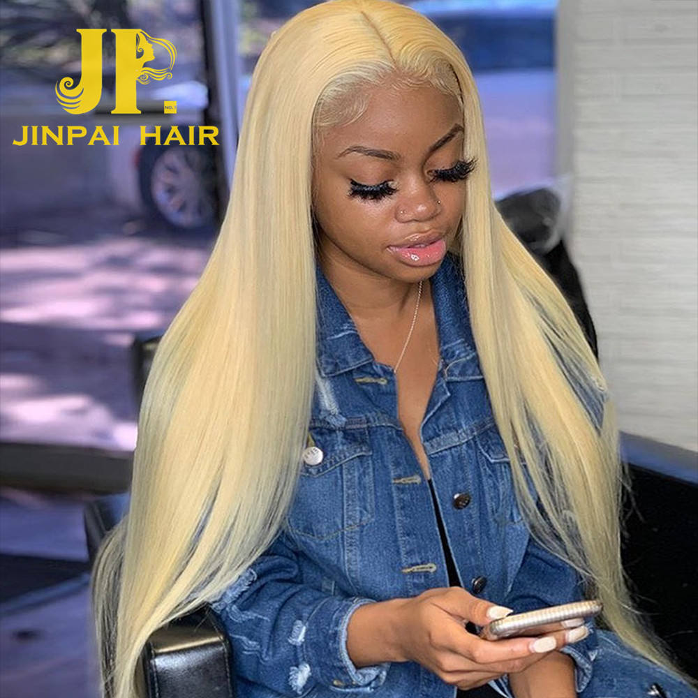 JP Natural Part Lace Front Wig #613 Long Blonde Human Hair Wig, HD full lace wig with baby hair,qingdao hair factory Blonde Wig