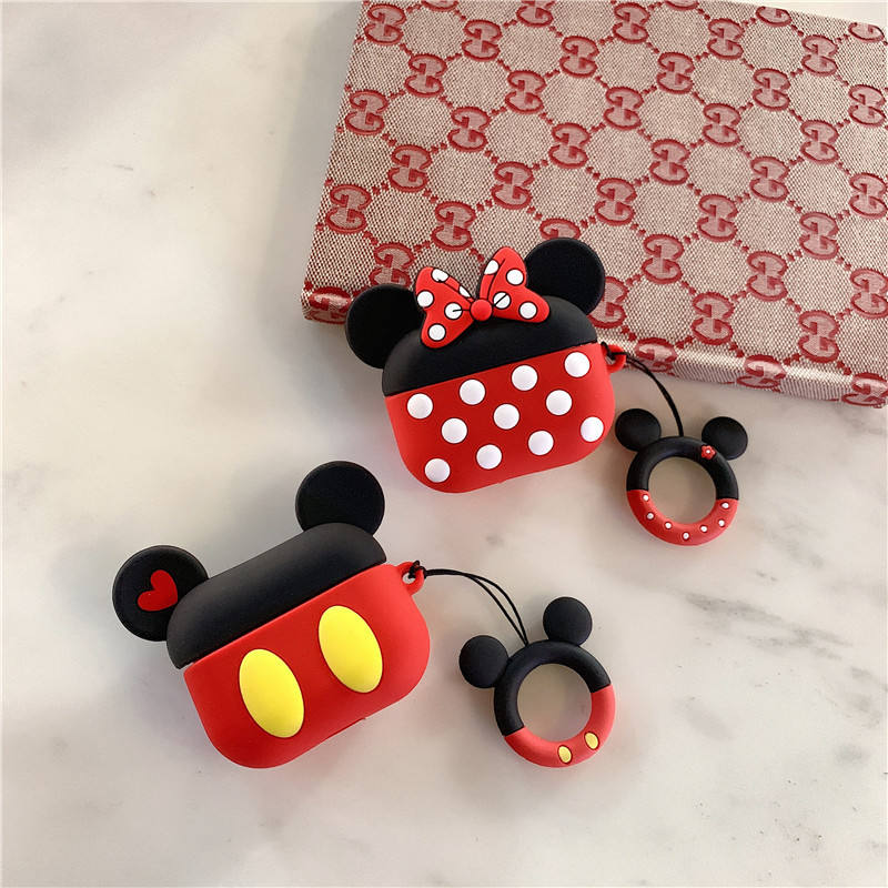 Cute Cartoon Mickey Minnie Mouse Headphone Cases For Airpods Pro For Airpods 1 2 Earphone Cover