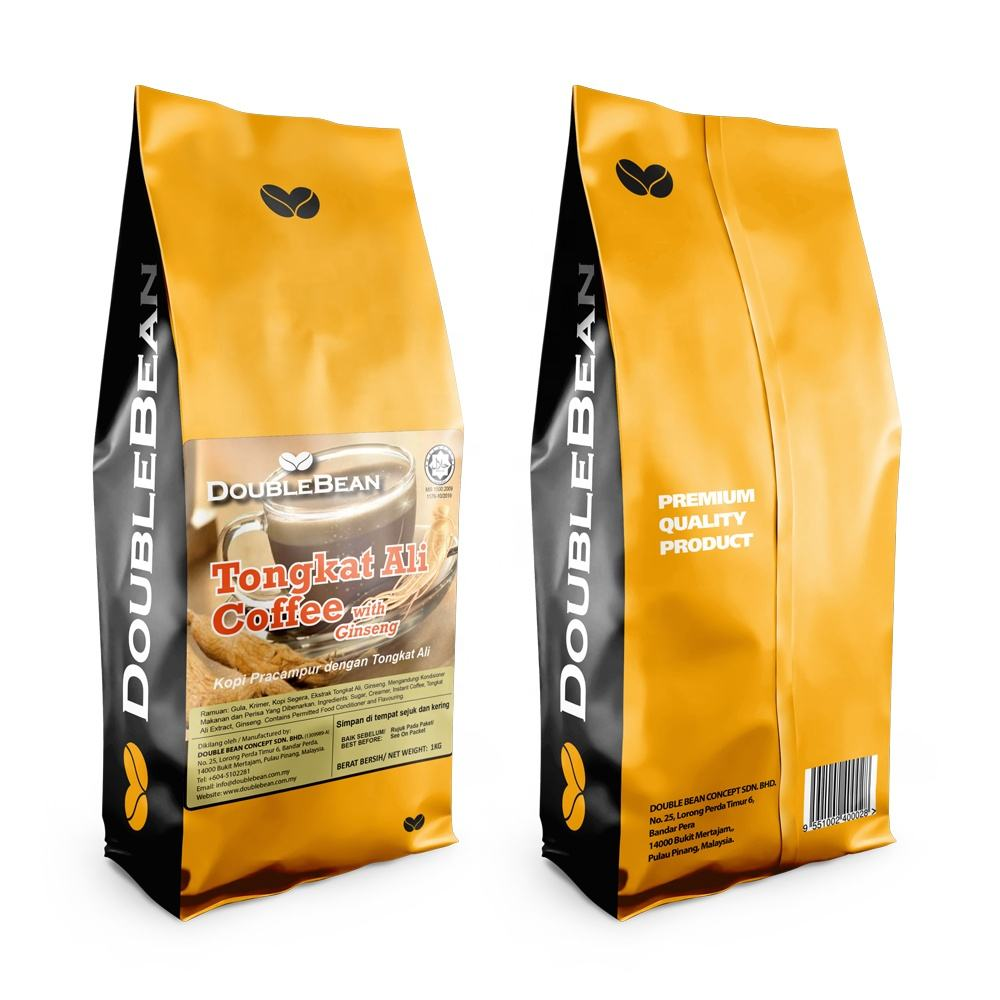 Tongkat Ali Ginseng Coffee 3 in 1 Premium Instant Premix High Quality Soluble Coffee from Malaysia White Coffee Manufacturer