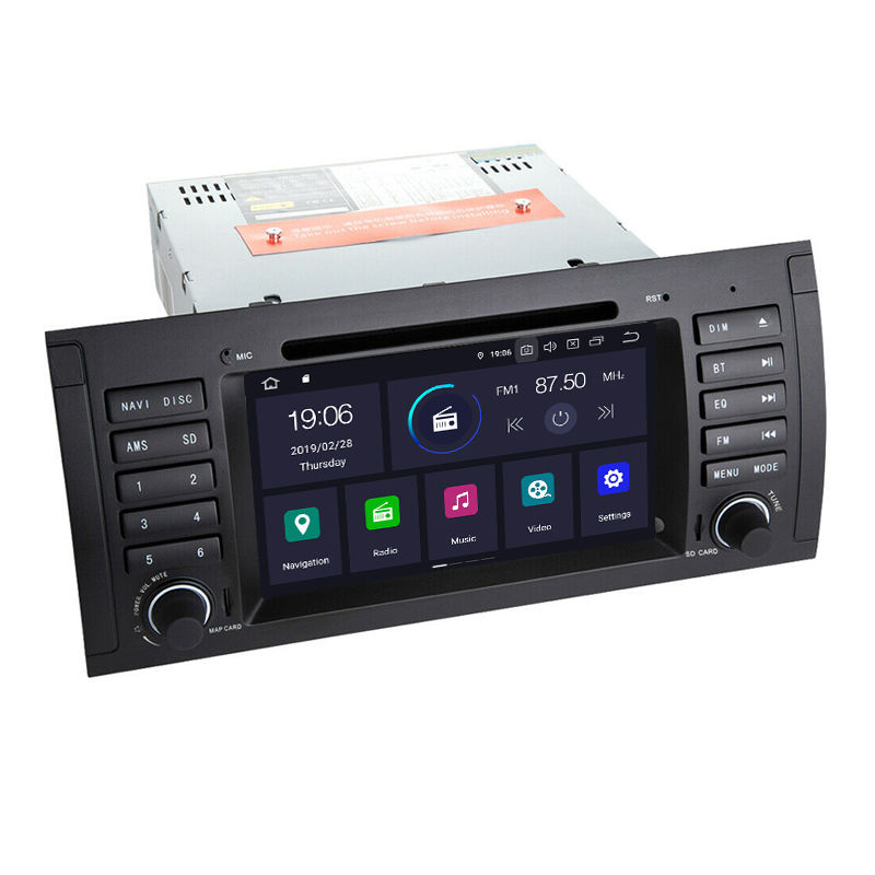 4+64G DVD Sat Navigator radio android 9.0 for BMW 5 Series E39 X5 E53 E38 GPS Bluetooth 4G mp3/mp4 player