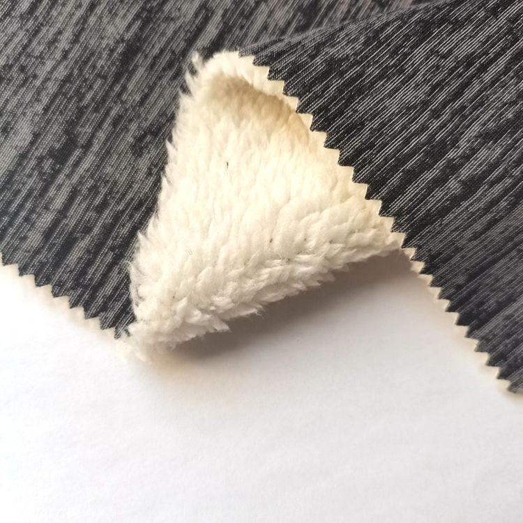 cationic knitted jersey fabric bond sherpa fleece fabric with TPU bonded fleece waterproof