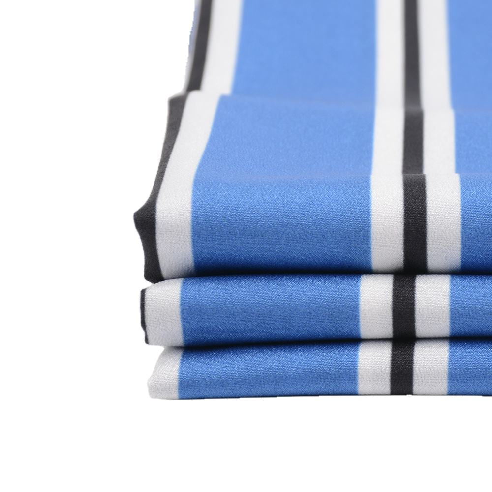 2020 Stripe pattern 100% polyester printed single Jersey knit fabric