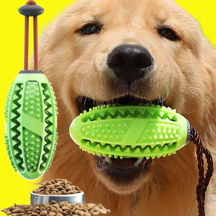 Wholesale Newest Soft Rubber Dog Food Ball Dog Treat Toy Ball Tooth Cleaning Interactive Toys