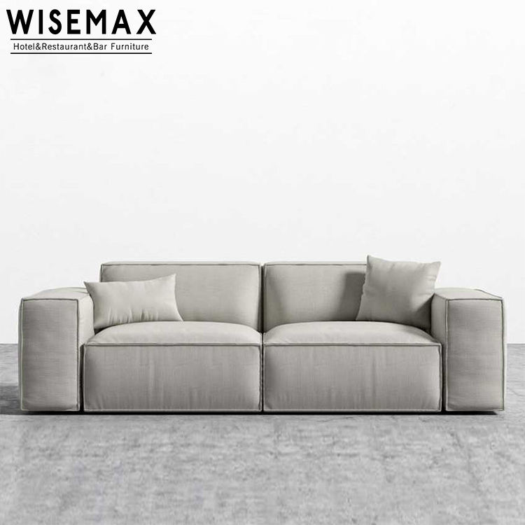 Home furniture modern Nordic couch living room sofa bed leisure cotton and linen fabric sofa