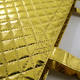 New arrival recycle quilted gold tote fabric reusable shopping bag