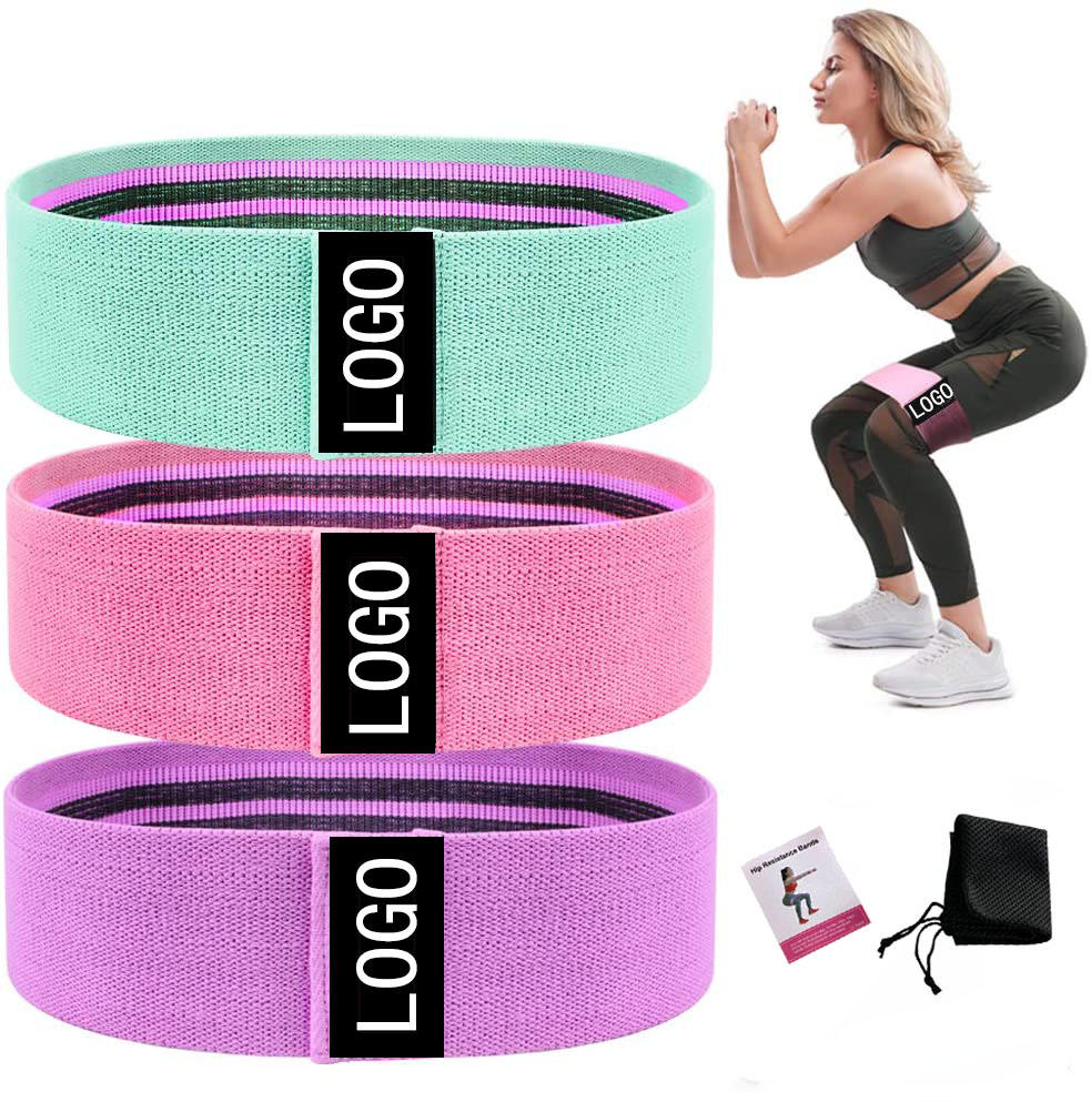 Hip Band - Non Slip Fabric Resistance Bands for Women HT-026