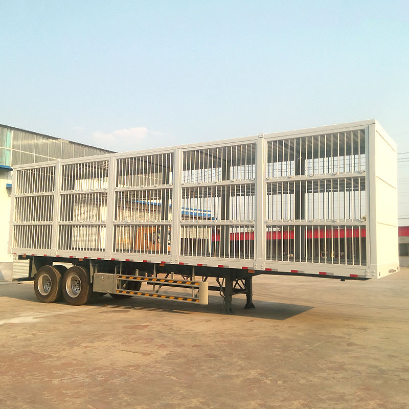 China Trailer Factory 40Tons Livestock Trailer/Stake Trailer/Animal Transport Fence Semi Trailer For Sale