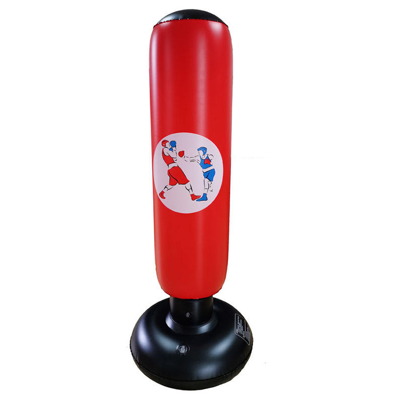 man children pvc inflatable punching standing boxing kicking bag for gym home office fitness body building sport
