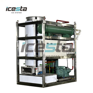 Icesta Industrial 1,5,10 Tons Maker Plant Price Crystal Cylinder Tube Ice Machine