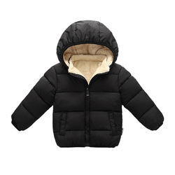 Kids Winter Clothes Jackets Boys Girls Infant Hooded Coat Warm Padded Outwear Jackets Cute Cartoon Outfit Outerwear Clothes