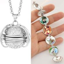 Magic Photo Pendant Memory Floating Locket Necklace Angel Wings Open Box Fashion Necklaces