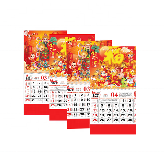 2021 tradition chinoise <span class=keywords><strong>calendrier</strong></span> personnalisé impression Motif logo publicité <span class=keywords><strong>calendrier</strong></span> <span class=keywords><strong>mural</strong></span>