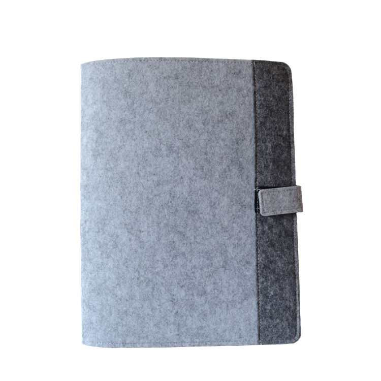 custom brand LOGO executive handmade felt A4 size file document folder