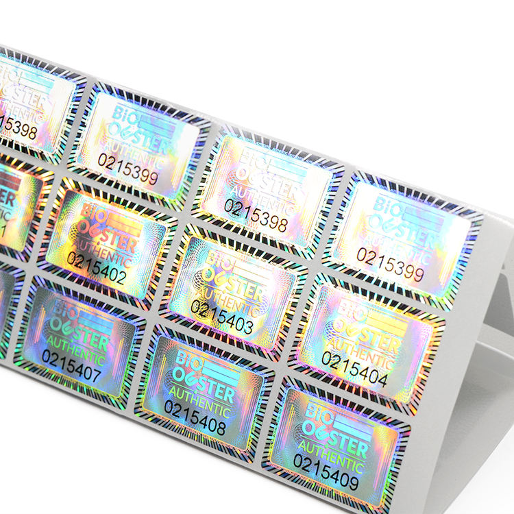 Custom Adhesive Reflective Rainbow Laser Holographic Stickers Hologram Sticker Label Printing