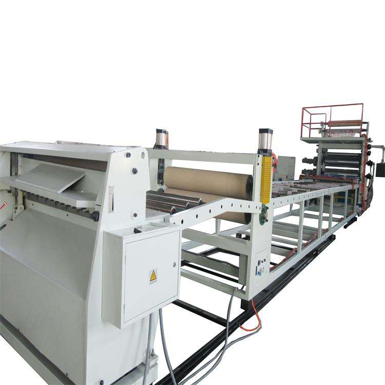 plastic PVC sheet calendar extruder making machine