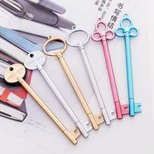 Creative Cute Student Stationery Pen Retro Key Shape Plastic Pen