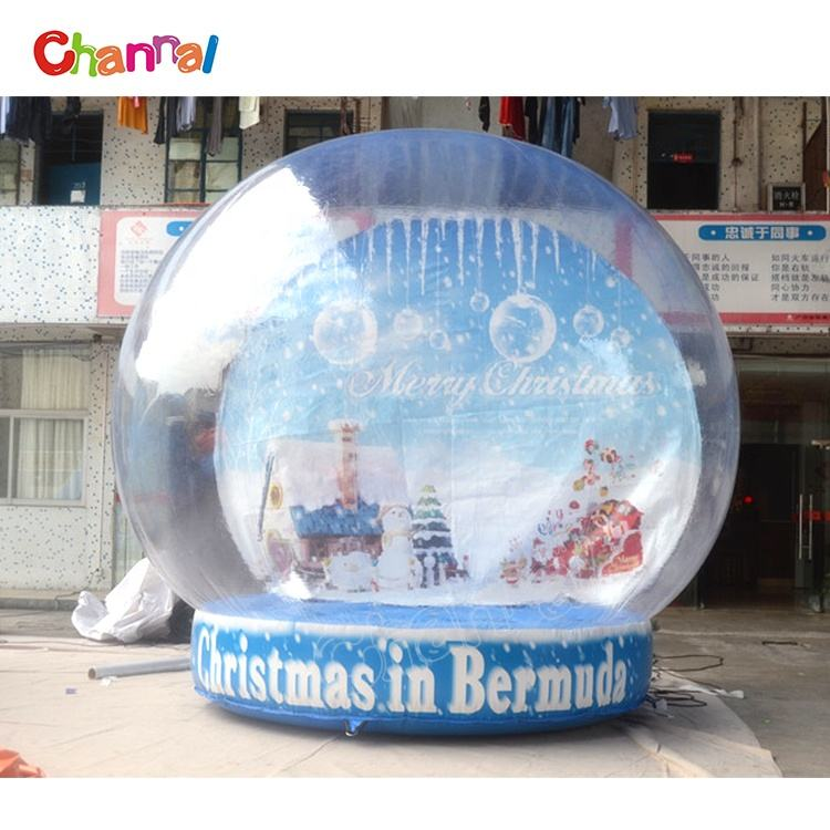 CUSTOM Christmas Theme Photo Booth Inflatable Snow Globe สำหรับขาย
