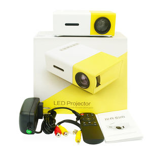 Rumah LED Mini Portable Smart Pocket Cinema Proyektor Video YG300