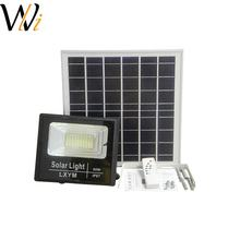 WANLI 80w solar flood lights 100lm/w IP67 waterproof solar light street light outdoor for rural roads residential roads
